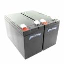 MTXtec Ersatzakku für USV APC Back UPS RS 800/1000, ersetzt RBC32 (2 Einzelakkus)