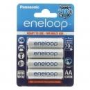 Panasonic eneloop Mignon AA Akku , NiMH, 1.2V, 1900mAh, 4er Blister, BK-3MCCE/4BE