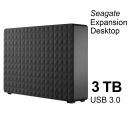 Seagate Expansion Desktop 3 TB, 3.5 Zoll externe Festplatte, schwarz, USB 3.0