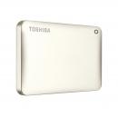 Toshiba Canvio Connect II 500 GB Mobile Festplatte (6,4 cm (2,5 Zoll) USB 3.0) mattgold (HDTC805EC3AA)